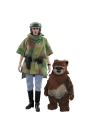 HOT TOYS 1/6 SCALE STAR WARS RETURN OF THE JEDI PRINCESS LEIA & WICKET EWOK MMS551