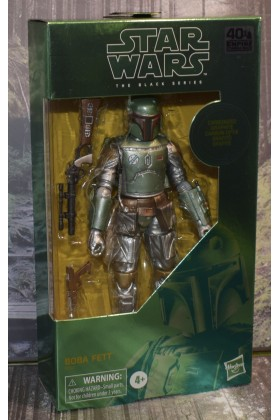 STAR WARS THE EMPIRE STRIKES BACK BLACK SERIES 6 INCH BOBA FETT CARBONIZED