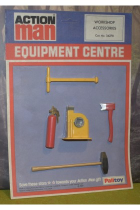 ORIGINAL VINTAGE ACTION MAN CARDED PALITOY WORKSHOP ACCESSORIES FIRE