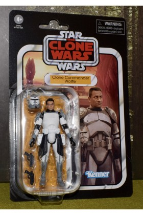 STAR WARS THE VINTAGE COLLECTION THE CLONE WARS COMMANDER WOLFFE VC168