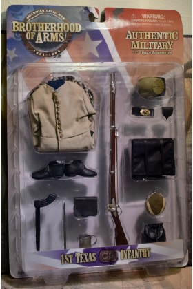 1/6 SCALE CARDED SIDESHOW AMERICAN CIVIL WAR BROTHERHOOD OF ARMS 1st TEXAS CS INFANTRY