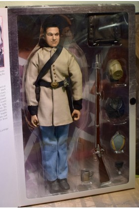 1/6 SCALE BOXED SIDESHOW AMERICAN CIVIL WAR BROTHERHOOD OF ARMS CS 1st TEXAS INFANTRY