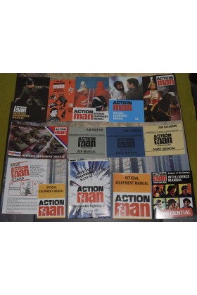 VINTAGE ACTION MAN 40th REPRODUCTION EQUIPMENT MANUALS & STAR CARDS (Set 2)