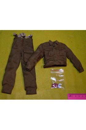 DRAGON IN DREAMS DID 1/6 SCALE WW II BRITISH AIRBORNE TUNIC TROUSERS from ROY
