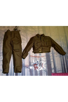 Dragon In Dreams DID 1/6 Scale WWII British Tunic Trousers from Charlie K80136B