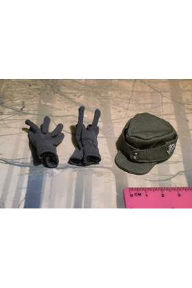Dragon In Dreams DID 1/6 Scale WWII German Cap & Gloves from Konig D80138