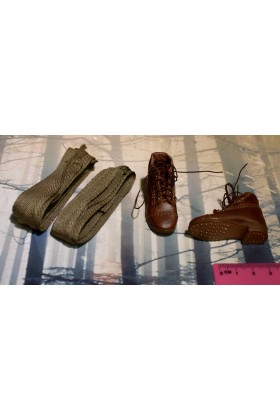 Dragon In Dreams DID 1/6 Scale WWI US Boots & Gaiters from Buck A11009