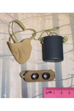 Dragon In Dreams DID 1/6 Scale WW I French Gas Mask Tin Goggles from Pascal F11003