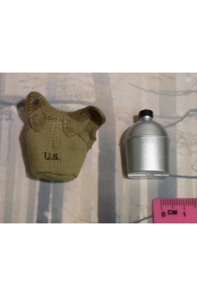Dragon In Dreams DID 1/6 Scale WW II US Water Bottle & Cover from Paul A80115