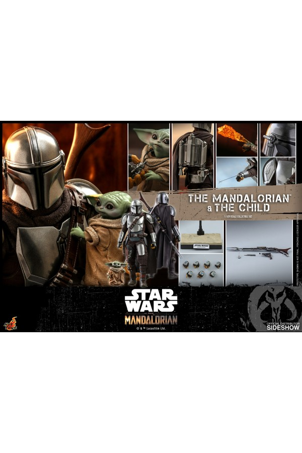 HOT TOYS 1/6 SCALE STAR WARS THE MANDALORIAN - THE MANDALORIAN AND THE CHILD - TMS014 906135