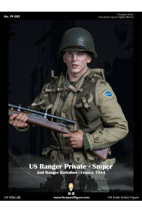 *Coming Soon* Facepool 1/6 Scale WWII US Ranger Private Sniper 2nd Ranger Battalion France 1944  FP-003A