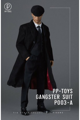 PP-Toys 1/6 Scale WWII Gangster Black Suit Set P003-A - No Figure Suit Only