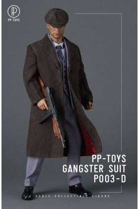 PP-Toys 1/6 Scale WWII Gangster Grey Suit Set P003-D