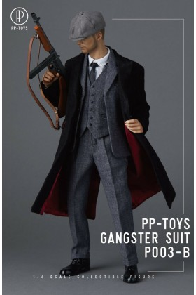 PP-Toys 1/6 Scale WWII Gangster Dark Grey Suit Set P003-B