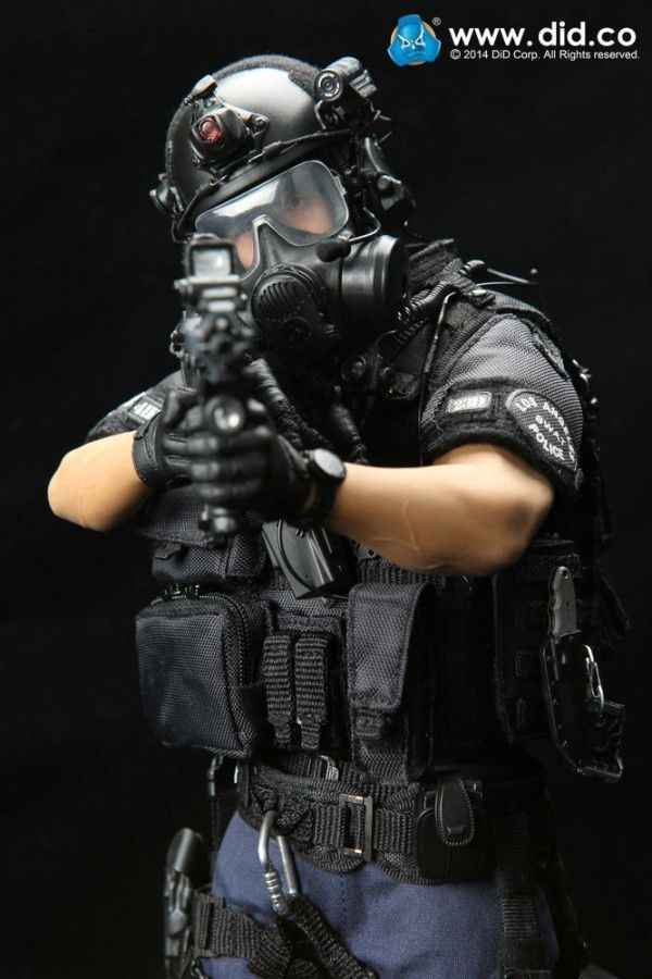 "1//6-12/"" scale Dragon Modern Police SWAT Special Force Vest"