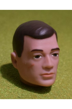 VINTAGE ACTION MAN 40th REPLACEMENT HEAD PAINTED BROWN HAIR