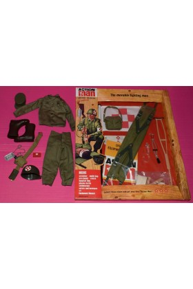 VINTAGE ACTION MAN 40th CARDED MEDIC w/ SOLDIER UNIFORM & ACCESSORIES