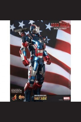 HOT TOYS IRON MAN III - IRON PATRIOT - DIECAST - LIMITED EDITION FIGURE WITH LIGHTUP FUNCTIONS 902014 - MMS195 - D01