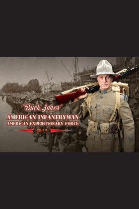 BUCK JONES - AMERICAN INFANTRYMAN - AMERICAN EXPEDITIONARY FORCE 1917