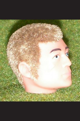 REPLACEMENT - HEAD - FLOCKED - SIDEBURNS - BLONDE