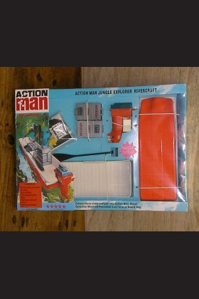 VINTAGE ACTION MAN 40th CARDED/BOXED JUNGLE EXPLORER RIVERCRAFT