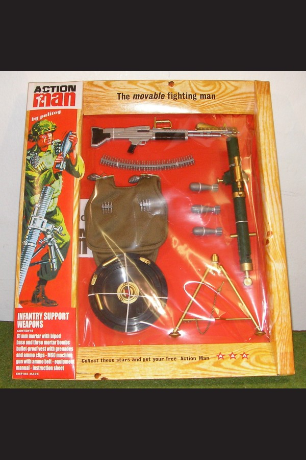 VINTAGE ACTION MAN 40th CARDED ACTION SOLDIER INFANTRY SUPPORT WEAPONS