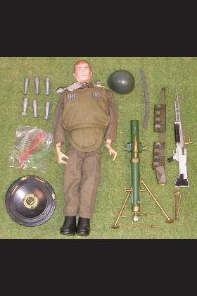 VINTAGE ORIGINAL LOOSE - ACTION MAN - HEAVY WEAPONS - AA