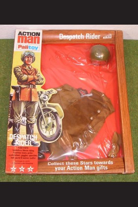 ORIGINAL VINTAGE ACTION MAN CARDED DISPATCH RIDER