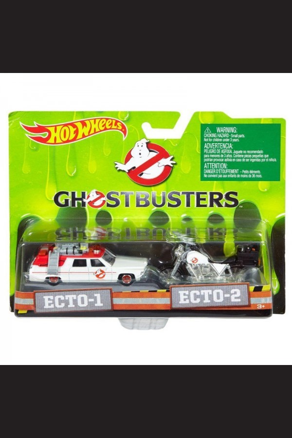 HOT WHEELS NEW GHOSTBUSTERS CAR & BIKE TWIN SET