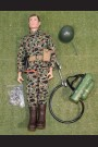 ORIGINAL VINTAGE ACTION MAN LOOSE - ACTION SOLDIER with FLAMETHROWER - 185