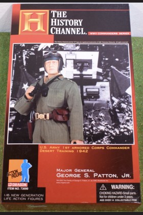 "DRAGON - 1/6 SCALE - 12"" - WW II - US - GEORGE S. PATTON JR - MAJOR GENERAL"