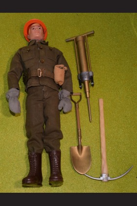 ORIGINAL VINTAGE ACTION MAN PAINTED HAIR BASIC SOLDIER - 426