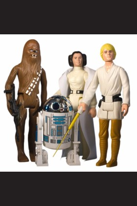 "STAR WARS GENTLE GIANT JUMBO 12"" EARLY BIRD 4-PACK LUKE LEIA R2-D2 DARTH VADER"