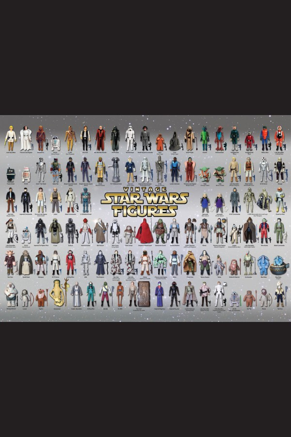 VINTAGE STAR WARS POSTER KENNER PALITOY ACTION FIGURES SILVER 841mm x 594mm