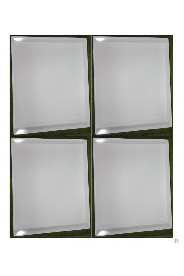 WHITE DISPLAY BOXES for ACTION MAN VINTAGE & 40th CARDS SIZE 360 x 296 x 37mm x 4