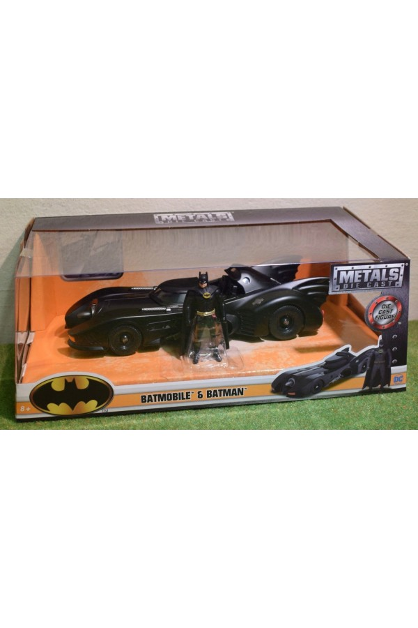 DIE-CAST JADA 1/24 SCALE 1989 BATMOBILE & BATMAN