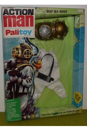 ORIGINAL VINTAGE ACTION MAN CARDED PALITOY DEEP SEA DIVER