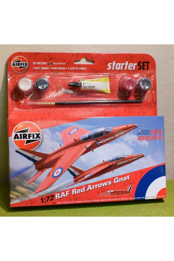 AIRFIX MODEL KIT 1/72nd SCALE RAF RED ARROWS GNAT A55105