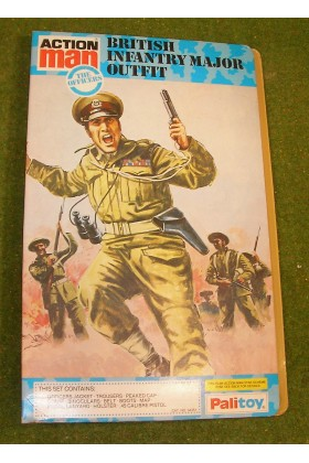ORIGINAL VINTAGE ACTION MAN GATE FOLD BRITISH INFANTRY MAJOR OUTFIT