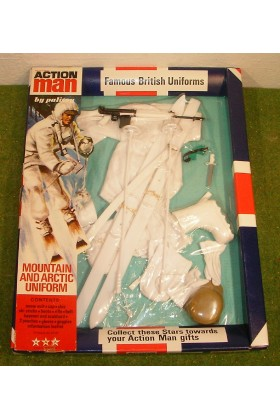 ORIGINAL VINTAGE ACTION MAN CARDED MOUNTAIN AND ARCTIC UNIFORM