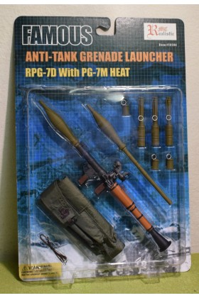 REALISTIC ARMOUR 1/6 SCALE CARDED ANTI-TANK GRENADE LAUNCHER RPG-7D & PG-7M HEAT
