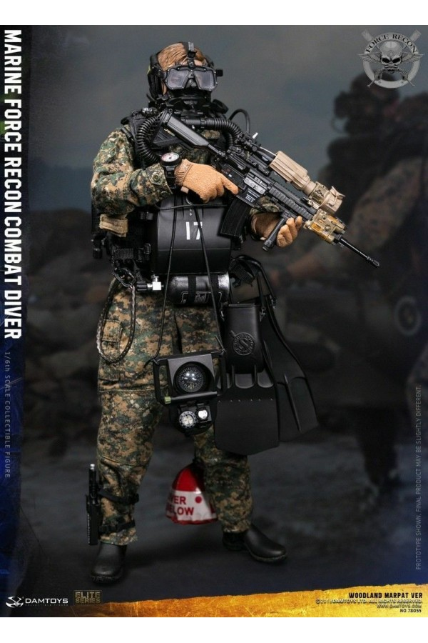 DAM TOYS DAMTOYS 1/6 SCALE MODERN US MARINE FORCE RECON COMBAT DIVER MARPAT Ver WOODLAND 78055