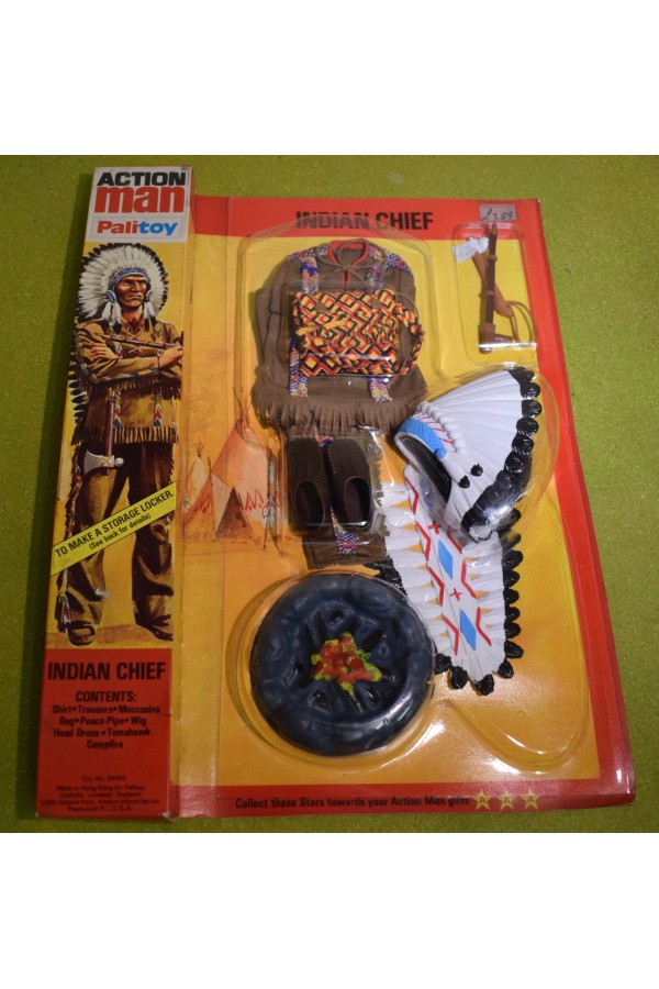 ORIGINAL VINTAGE ACTION MAN INDIAN CHIEF OUTFIT