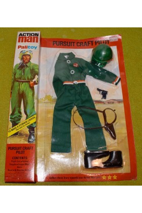 ORIGINAL VINTAGE ACTION MAN PURSUIT CRAFT PILOT OUTFIT (B)