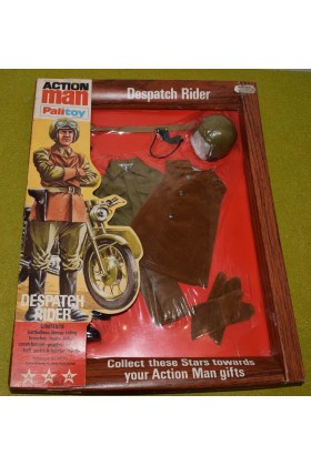 ORIGINAL VINTAGE ACTION MAN CARDED PALITOY DESPATCH RIDER (A)
