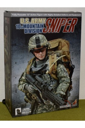 HOT TOYS MILITARY 1/6 SCALE MODERN US ARMY SNIPER 10th MOUNTAIN DIVISION