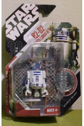 STAR WARS CARDED 30TH ANNIVERSARY COIN R2-D2 with CARGO NET RETURN OF THE JEDI - 46