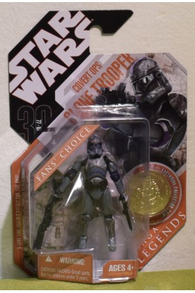 STAR WARS CARDED 30TH ANNIVERSARY COIN COVERT OPS CLONE TROOPER SAGA LEGENDS GOLD COIN
