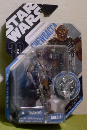 STAR WARS CARDED 30TH ANNIVERSARY COIN CONCEPT McQUARRIE CHEWBACCA SILVER COIN - 21