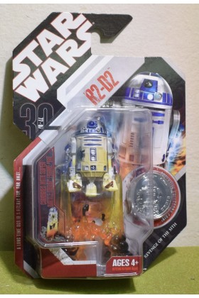 STAR WARS CARDED 30TH ANNIVERSARY COIN R2-D2 REVENGE OF THE SITH - 04